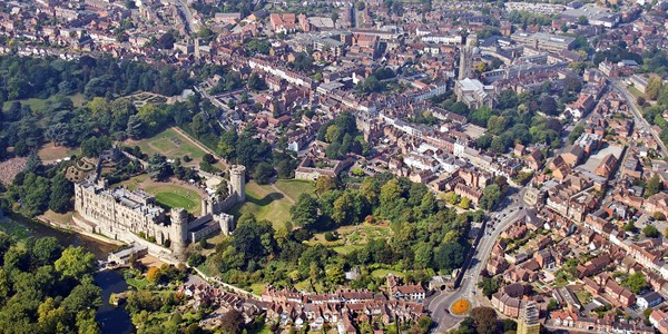 Aerial view of Warwick
